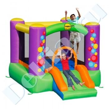 Фото детский надувной батут happy hop великан с горкой 9017 (хеппи хоп) фотография детский надувной батут happy hop